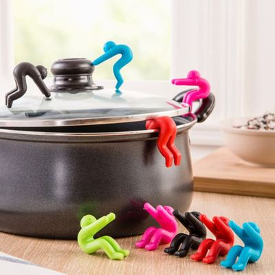 Silicone kitchen Spill-proof Villain Raise Lid Heightening for Pot Cover Anti-overflowing Kitchen Supplies Tool