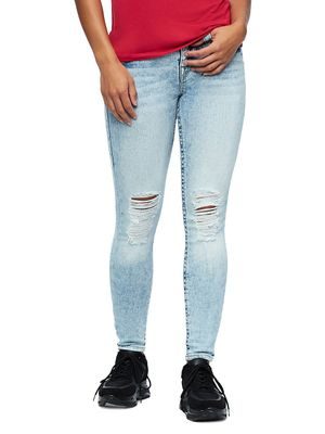 True Religion Distressed Ankle Jeans