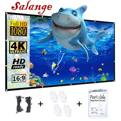 Salange Projector Screen Portable HD Foldable for Home Theater Outdoor Indoor Double Side Projection screen polyester