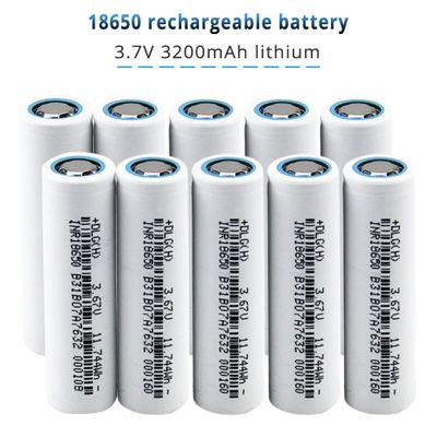 INR18650 Rechargeable Battery 3.7V 3200mAh Lithium ion Battery High Discharge for Flashlight Power Bank Laptop Drop shipping