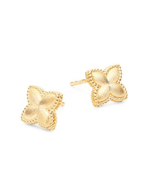 Saks Fifth Avenue Made in Italy 14K Yellow Gold Quatrefoil Stud Earrings
