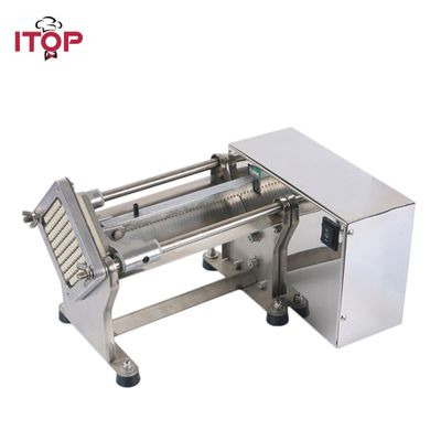 ITOP Electric French Fry Cutters Slicers Potato Carrot Cutting Machine Vegetable Fruit Tools With 6/9/13MM Blade