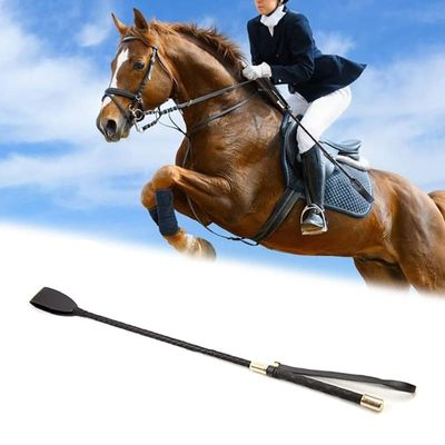 54cm Leather Horse Whip Leather Equestrian Horseback Racing Riding Role Plays Trail Stage Riding Performance Horse Training Whip