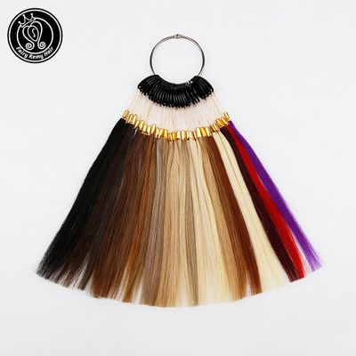 Fairy Remy Hair 100% Remy Human Hair Color Rings/ Colour Charts 26 Colors Available Can Be Dyed For Salon Sample Free Shipping
