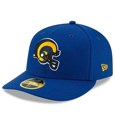 Los Angeles Rams New Era Omaha Low Profile 59FIFTY Structured Hat - Royal Helmet