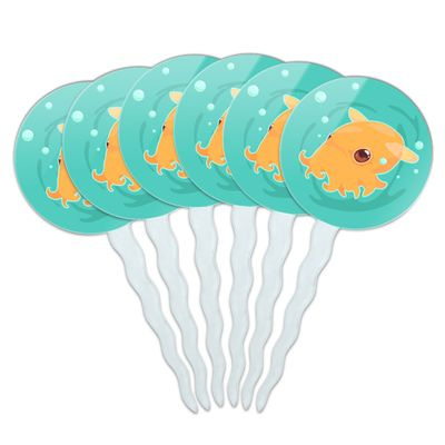 Cute Dumbo Octopus Cupcake Picks Toppers Decoration Set of 6