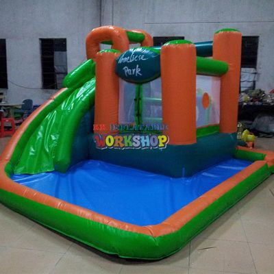 Home garden Mini Inflatable slide with ball pool,inflatable party bouncer house
