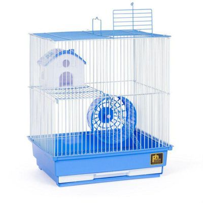 Two Story Hamster Cage - Blue