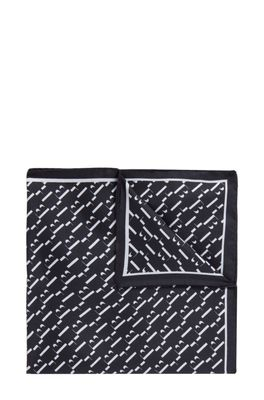 HUGO BOSS - Patterned Pocket Square In Pure Silk