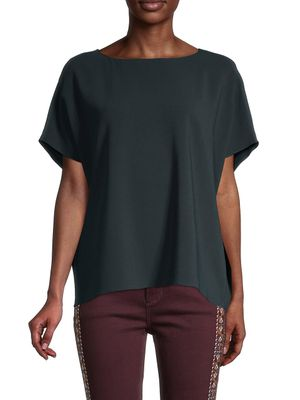 The Row Boatneck Short-Sleeve Top