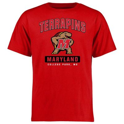 Maryland Terrapins Big & Tall Campus Icon T-Shirt - Red
