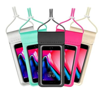 6.0 Waterproof Phone Case Cover Touchscreen Cellphone Dry Diving Bag Pouch with Neck Strap for iPhone Xiaomi Samsung Meizu