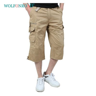 WOLFONROAD 5XL Men Summer Cargo Shorts Multi Pockets Short Trousers Military Tactical Army Shorts Hiking Camping Sport Shorts