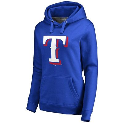 Texas Rangers Women's Team Color Primary Logo Pullover Hoodie - Royal