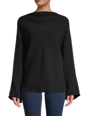 The Row Andra Open-Back Silk Top