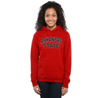 Arkansas State Red Wolves Women's Everyday Pullover Hoodie - Red