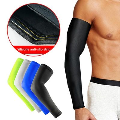 Basketball Barcer Long Style Exercise Cycling Hand Sunscreen Arm Elbow Warmers Non-slip Thin Protector Leg Protect Cuffs