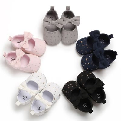 0-18M Newborn Baby Girls Shoes Princess Star Bow Crib Shoes Cute Infant Girls Shoes 2019 New