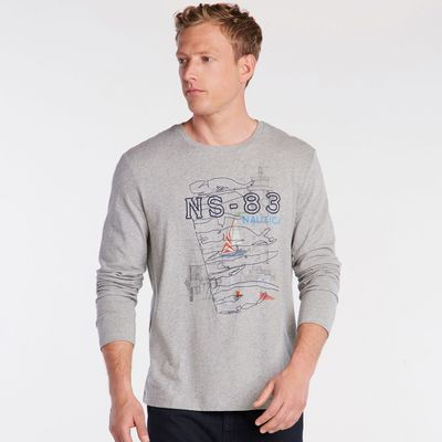 Nautica Ns-83 Long Sleeve Graphic T-shirt