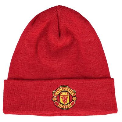 Manchester United New Era Adult Basic Cuffed Knit Hat - Red