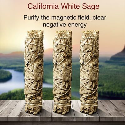 California White Sage Pure Leaf Smoky White Sage Smoking Accessories Purification And Drive Away Negative Energy Meditation