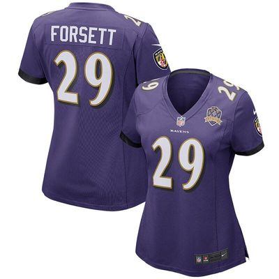 Justin Forsett Baltimore Ravens Nike Women's Patch Game Jersey - Purple