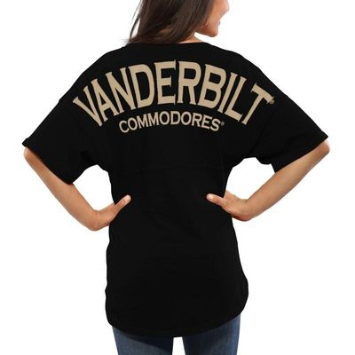 Vanderbilt Commodores Women's Spirit Jersey Oversized T-Shirt - Black