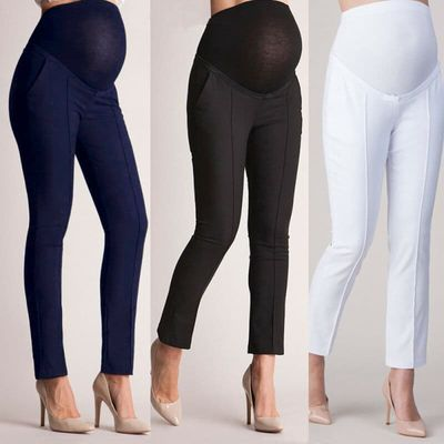 Elastic Lift Maternity Clothes Pregnancy Trousers For Pregnant Women Pants Full Ankle Length