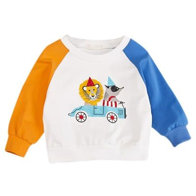 Autumn Tops Kids Baby Clothes Girl Boy Cartoon Print Sweatshirts Casual Toddler Blouse Long Sleeve Outerwear Infant Clothing