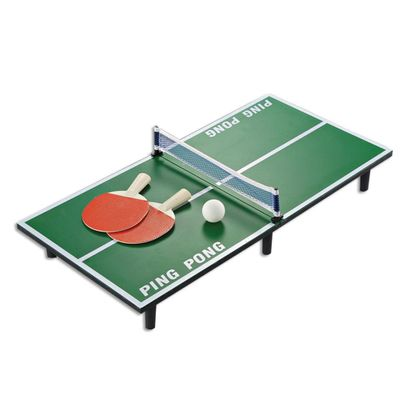 1 Set Mini Table Tennis Set Wooden Ping Pong Racket Table Portable Board Game Set Indoor Sport Entertainment For Kids Children