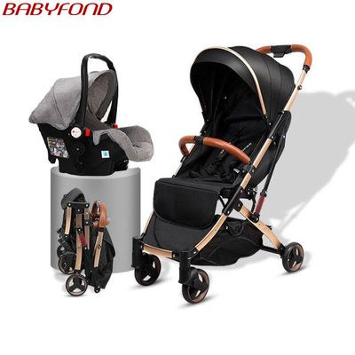 Baby stroller multi-function can sit reclining high landscape stroller light foldable newborn child baby stroller