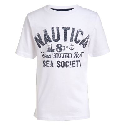 Nautica Toddler Boys' Sea Society Graphic T-shirt (2t-4t)