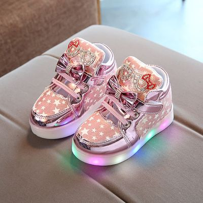 SAGACE Toddler Baby Shoes Fashion Sneakers For Children Girl Boys Star Luminous Child Casual Colorful Light Shoes Sneakers 2019