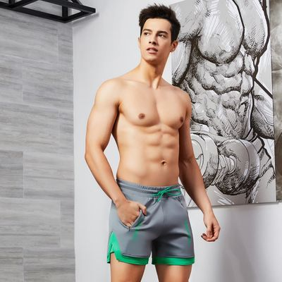 Professional tennis  shorts men quick-drying and breathable leggings gym shorts male