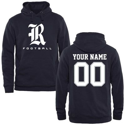 Rice Owls Personalized Football Pullover Hoodie - Navy