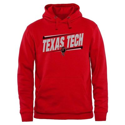 Texas Tech Red Raiders Double Bar Pullover Hoodie - Red