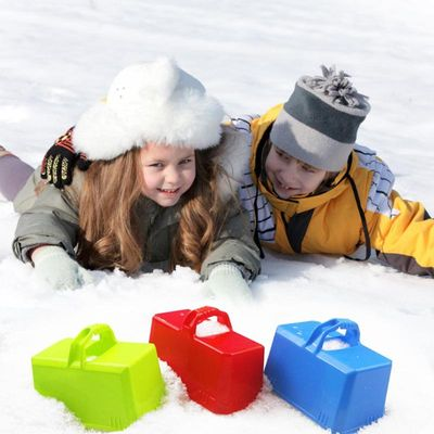 Winter Outdoor Snow Block Mold Plastic Summer Sand Castle Brick Foundation Mould Children Funny Playing Accessories Random Color