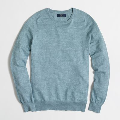 J.Crew Factory Textured Cotton Crewneck Sweater