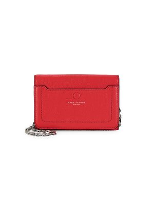Marc Jacobs Empire City Leather Wallet-On-Chain