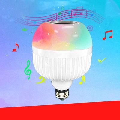 6W  Wireless Bluetooth Bass Speaker LED Bulb Light 12W Music Playing Dimmable Led Lamp with 24 Keys Remote Control