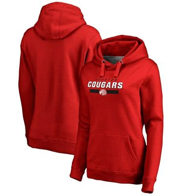 Houston Cougars Women's Team Strong Pullover Hoodie - Scarlet