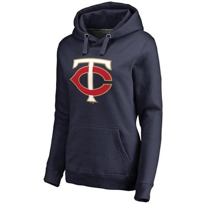 Minnesota Twins Women's Team Color Primary Logo Pullover Hoodie - Navy