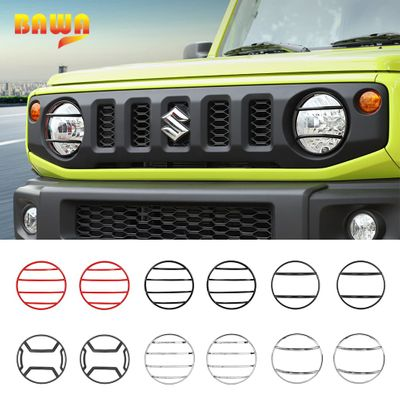 BAWA Car Lamp Hoods Front Headlight Lamp Cover Accessories for Suzuki Jimny 2019+ Metal Headlight Decoration