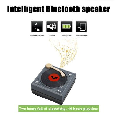 Mini Stereo Sound Speaker H1 Retro Phonograph Bluetooth Speaker Card Portable Car Fashion Accessories Practical High Quality New