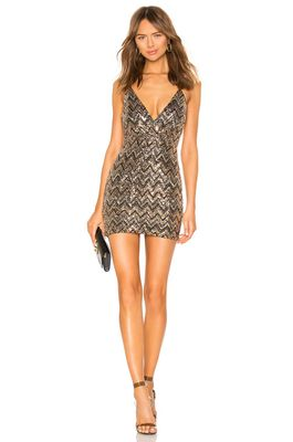 superdown Erin Sequin Surplice Dress