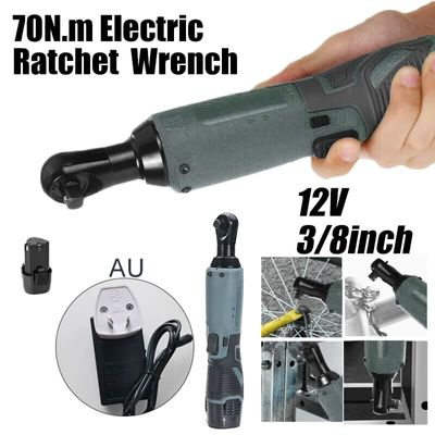 12V Electric Drill Cordless Ratchet Right Angle Wrench 3/8in Tool With 6000mAh Lithium Battery Power Tools Cordless Drill