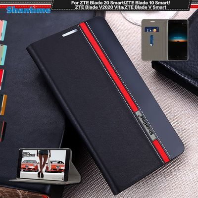 PU Leather Case For ZTE Blade 20 Smart 10 Smart Flip Case For ZTE Blade V2020 Vita V Smart Phone Case Soft Silicone Back Cover
