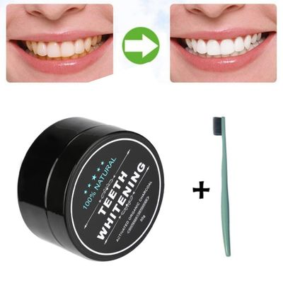 Teeth Whitening Powder Natural Organic Activated Charcoal Bamboo Toothpaste Plaque Tartar Removal Coffee Stains For