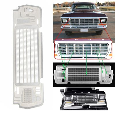 Lightweight Radiator Grill Plate Silver Sturdy 1pc Accessory Metal Steel for TRX-4 BRONCO 1/10 Car Kit RC Durable