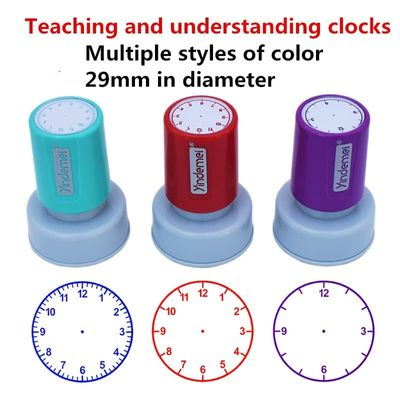 Learning recognition teacher teaching seal clock dial stamps primary school seal child seal time stamp custom 29mm in diameter